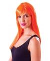 Oranje damespruik met froufrou
