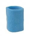 Gekleurde zweetbandjes pols lichtblauw