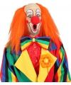 Oranje clowns pruiken