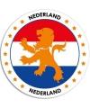 Nederlandse vlag sticker 14,8 cm