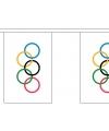 Olympische spelen vlaggenslinger