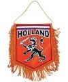 Autovlaggen Nederland oranje 15 x 10 cm