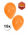 Oranje latex ballonnen 10 stuks