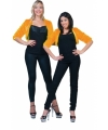 Oranje pluche pimp jasje voor dames