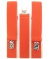 Bretels in het oranje