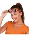 Oranje zonnebril vierkante glazen