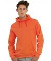 Hooded trui oranje voor volwassenen