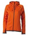 Oranje dames fleece vest met capuchon