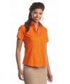 Oranje overhemd met knopen voor dames