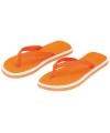 Oranje teenslippers met witte rand voor dames
