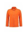 Fleece sweatshirt oranje met rits voor volwassenen