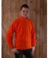 Oranje fleece vestjes volwassenen