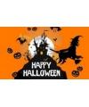 Halloween versiering vlag oranje
