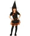 Oranje heksen jurk kinderen