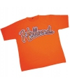 Oranje baseball t-shirt met Holland tekst