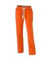 Dames vrijetijdsbroeken oranje met steekzakken