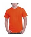 Korte mouwen T-shirt oranje voor volwassenen