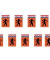 Oranje vlaggenlijnen 8 meter met leeuw