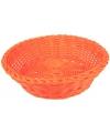 Rond broodmandje oranje 25 cm