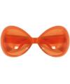 Oranje zonnebril groot formaat