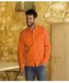 Katoenen overhemd voor heren oranje
