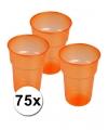 Oranje wegwerp glazen 75 stuks