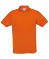 Ooranje polo T-shirt met korte mouwen