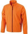 Oranje heren jasje softshell