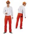 Oranje supporters spijkerbroek voor heren