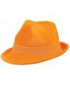 Oranje suede gangsterhoeden