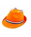 Koningsdag hoedje orange met licht