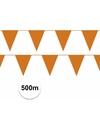 Oranje vlaggenlijnen 500 meter straatversiering