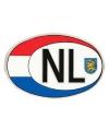 Ovaal NL sticker groot