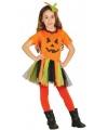Carnavalkostuum oranje pompoen jurkje