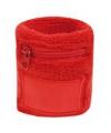 Polsbanden met rits rood