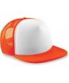 Beechfield trucker pet oranje