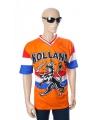 Holland shirt oranje met leeuw en vlag