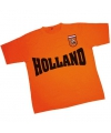 Oranje Holland supporters t-shirt met batch
