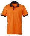 Dameskleding oranje poloshirt met korte mouwen