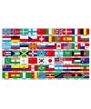 Grote landenvlag met 70 landen