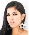 Dames oorbellen in de vorm van voetballen