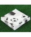 20 stuks voetbal servetten