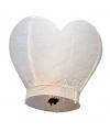 Witte hart wensballonnen bruiloft 100 cm