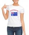 Australische t-shirt met Australische vlag print voor dames