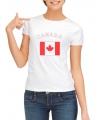 Canada t-shirt met Canadese vlag print voor dames