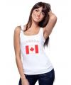Tanktop met Canadeese vlag print voor dames