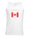 Canadese tanktop met canada vlaggen print