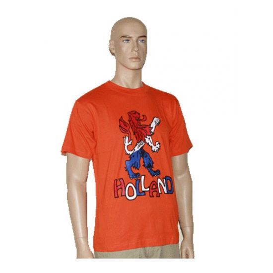 WK T-shirtjes oranje met leeuw