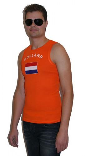 Oranje heren singlet vlag Holland