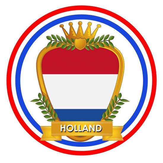 10 x bierviltjes Holland wapen thema print